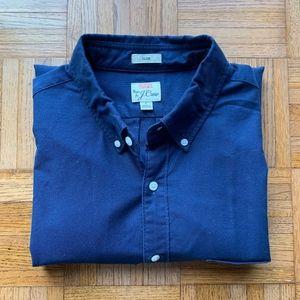 J. Crew Slim Fit Men's Blue Button Down Oxford, L